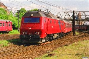 DSB ME 1509 med RØ 2537 Hgl-Hk. Østerport 23.05.2001.