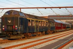 DSB ADns-e 541+S 001+Ledsagevogn 003+ME 1522. Materiel til IR 8057 Od-Str. Odense 23.10.2008.