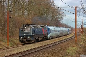 DSB ME 1531+MG 33+MP 02 som M 8245 Od-Ar. Km 165,4 Kh (Odense-Holmstrup) 19.04.2013.