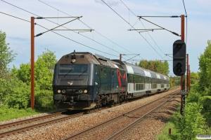 DSB ME 1529 med IR 1653 Kh-Fa. Km 155,6 Kh (Marslev-Odense) 24.05.2013.