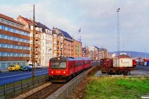 DSB MR/D 71 som RV 3525 Gr-Ar. Km 1,4 Ar (Skolebakken-Østbanetorvet) 01.12.1995.
