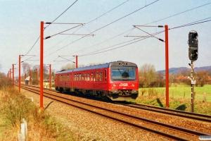 DSB MR/D 42 som RV 3125 Ngf-Ar. Km 46,7 Ng (Tommerup-Skalbjerg) 22.04.1996.
