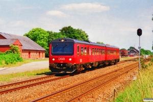 DSB MR/D 72 som RV 3640 Fa-Es. Brørup 21.07.1996.