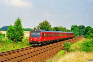 DSB MR/D 77+MR/D 39 som RV 3136 Ar-Ngf. Km 9,2 Fa (Fredericia-Børkop) 18.08.1996.