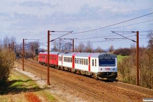 DSB MR/D 63+MR/D 07 som RV 3137 Ngf-Ab. Hjulby 31.03.1997.
