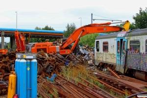 DSB (ex. AT) MR/D 95 klar til saksen. Fredericia 30.08.2015.