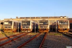 DSB MR/D 03, MR/D 97, MR/D 74 og MR/D 21. Fredericia 22.08.2021.