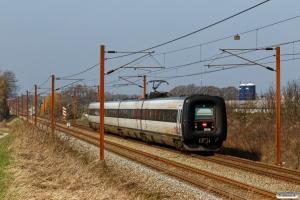 DSB ER 36 som RV 3841 Od-Fa. Km 193,0 Kh (Gelsted-Ejby) 30.03.2019.