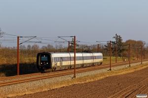 DSB ER 29 som L 962 Sdb-Fa. Km 52,4 Fa (Sommersted-Vojens) 05.04.2020.