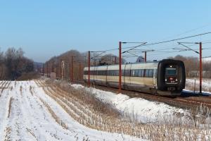 DSB ER 29 som RV 3828 Fa-Od. Km 180,2 Kh (Skalbjerg-Bred) 13.02.2021.