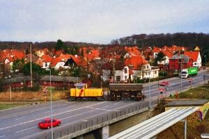 DSB MK 603+Tdgs på vej på havnen. Odense 18.03.1997.