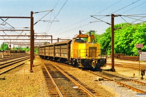 DSB MK 611+15 Hbis som G 87257 Frs-Od. Odense 10.07.1997.