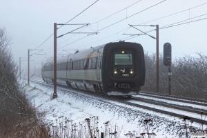 DSB MF 95 som IC 90845 Kk-Es. Km 165,0 Kh (Odense-Holmstrup) 23.01.2016.
