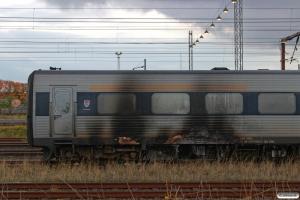 DSB MF 51 henstillet i spor 6 Vest. MFA 5051 brød i brand ved afgang fra Odense med IC 829 (Kh)-Od-Es. Odense 20.10.2016.