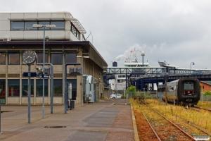 DSB MF 86 som EC 232 Nf-Rf kører ombord på M/F Schleswig-Holstein. Rødby Færge 15.08.2019.
