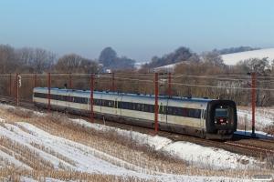 DSB MF 58+MF 06 som L 80026 Ar-Cph. Km 180,2 Kh (Skalbjerg-Bred) 13.02.2021.