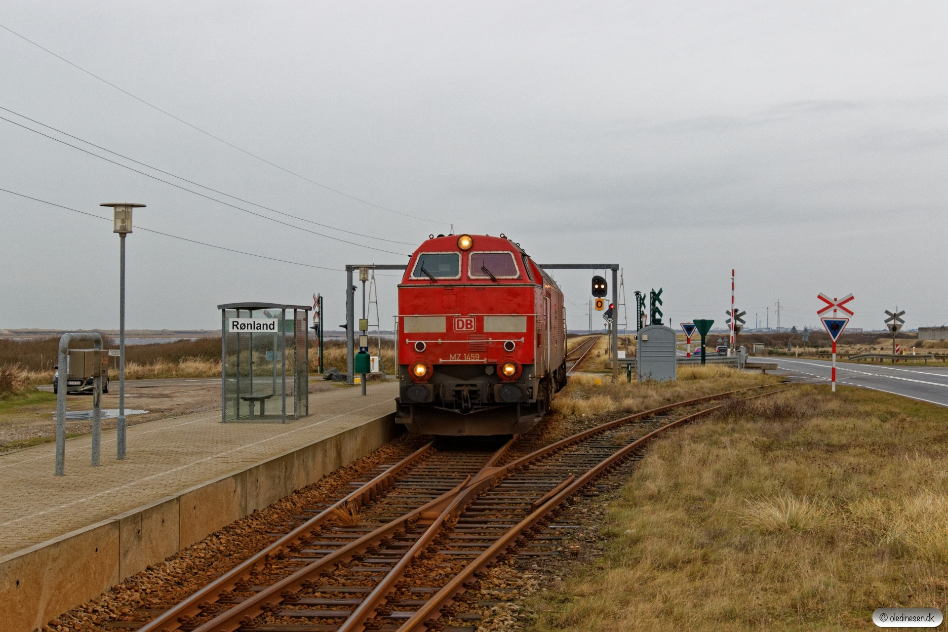 DBCSC MZ 1459 solo som Tog 155458 Røn-Vem. Rønland 28.12.2019.