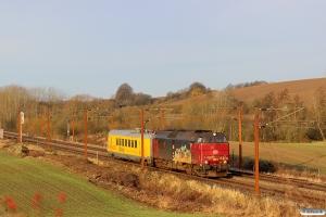 DBCSC MZ 1453+INFRA IMV200 som GB 6611 Pa-Rg. Km 180,2 Kh (Skalbjerg-Bred) 20.11.2016.