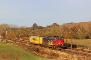 RSC MZ 1453+INFRA IMV200 som GB 6611 Pa-Rg. Km 180,2 Kh (Skalbjerg-Bred) 20.11.2016.