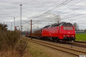 DSB ME 1508+WRm 603+S 001 som M 8012 Ar-Gb. Nyborg 08.04.2017.