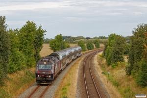 DSB ME 1511 med RØ 1837 Kk-Næ. Km 85,4 Kh (Glumsø-Næstved) 15.08.2019.