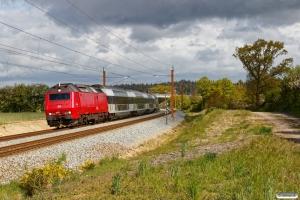 DSB ME 1537 med RØ 4833 Kj-Nf. Km 98,0 Kh (Næstved-Lundby) 15.05.2020.