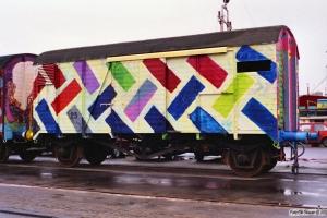 Vogn 25 (ex. Gklms 20 86 138 8 597-8). Svendborg 31.01.1990.