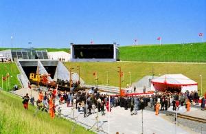 Afsked med jernbanefærgerne og indvielse af Storebæltsforbindelsen den 31.05 og 01.06.1997