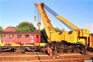 Afsporet Bg 064 og Fredericias hjælpetog. IC 139 afsporet under udkørsel. Fredericia 03.07.1989.