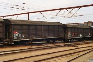 SBB-CFF Hbis 01 85 225 0 571-0 og Hbis 01 85 225 0 551-2. Odense 09.08.1991.