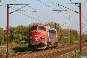CONTC MY 1153 som BM 6149 Gb-Vj. Km 155,4 Kh (Marslev-Odense) 25.04.2009.