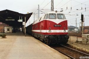 DR 118 731-9. Wismar 27.10.1990.