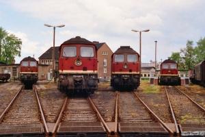 DR 132 825-2, 132 020-9, 132 446-6 og 132 528-1. Nordhausen 19.05.1991.