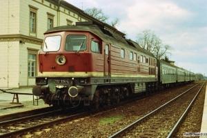 DR 132 334-4 med P 7385. Neustadt 28.03.1991.