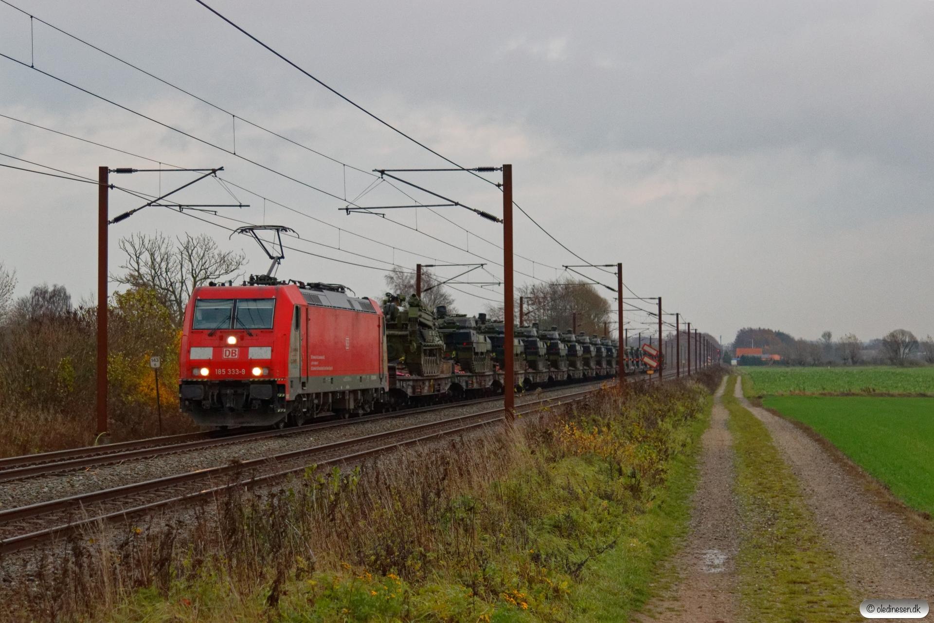 DB 185 333-9 med G 63207 Mgb-Fa. Km 143,6 Kh (Ullerslev-Langeskov) 13.11.2018.