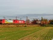 DB 185 401-7+185 324-8 med G 8023 Htå-Fa. Marslev 25.10.2019.