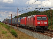 DB 185 335-4+185 337-0 med GD 42773 Mgb-Pa. Km 57,4 Fa (Sommersted-Vojens) 19.08.2020.