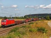 DB 185 058-5 med Tog 51173.  Nordstemmen - Elze 14.08.2019.
