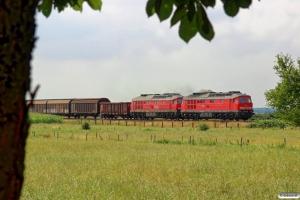 DB 232 384-8+232 534-8 med EZ 47408. Langenhorn - Stedesand 03.08.2014.