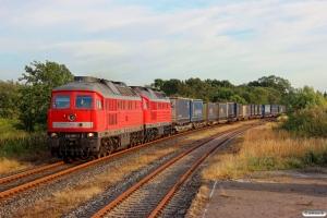 DB 232 669-2+232 259-2 med EZ 47414. Süderlügum 03.08.2014.