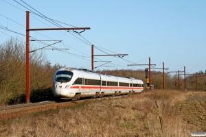 DB 605 516-3+605 216-0+605 101-5+605 016-4 som IE 381 Ar-Pa. Km 96,3 Fa (Tinglev-Vejbæk) 25.03.2012.