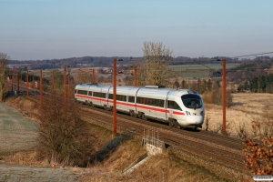 DB 605 511-4+605 211-1+605 111-3+605 011-5 som IE 381 Ar-Pa. Km 12,2 Fa (Taulov-Kolding) 15.03.2013.