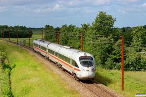 DB 605 011-5+605 111-3+605 211-1+605 511-4 som IE 380 Pa-Ar. Km 54,4 Fa (Sommersted-Vojens) 29.06.2013.