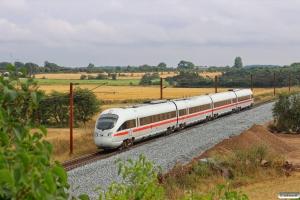 DB 605 504-9+605 204-6+605 104-8+605 004-0 som IE 380 Pa-Fa. Km 54,4 Fa (Sommersted-Vojens) 07.08.2014.
