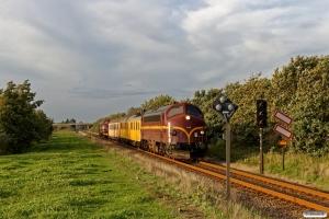 CFLCD MY 1146+RSEJ Målevogn 001+002+Slps+CFLCD MX 1023 som CB 6365 Es-Tdr. Km 10,0 Bm (Gredstedbro-Ribe Nørremark) 19.09.2018.