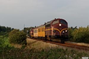CFLCD MY 1146+RSEJ Målevogn 001+002+Slps+CFLCD MX 1023 som CB 6365 Es-Tdr. Km 30,6 Bm (Rejsby-Brøns) 19.09.2018.