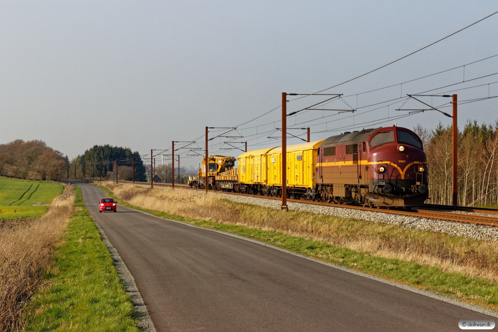 CFLCD MX 1023 med BG 6080 Pa-Rg. Km 195,4 Kh (Ejby-Nørre Åby) 30.03.2019.