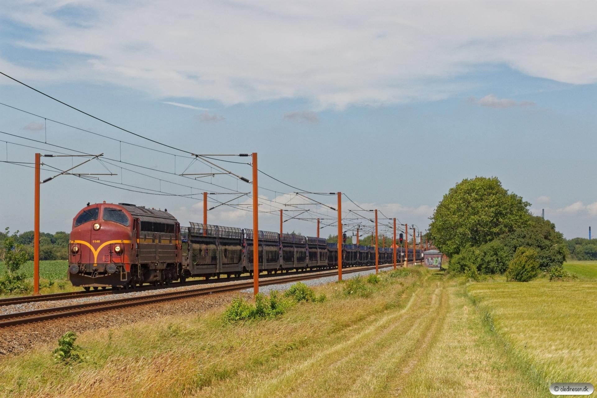 CFLCD MY 1146+21 tomme bilvogne som CF 6811 Vm-Pa. Km 86,2 Fa (Rødekro-Tinglev) 26.06.2019.