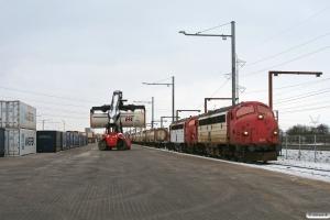 RCDK MY 1134+MY 1122 med RG 6614 Pa-Tl. Taulov 23.01.2013.