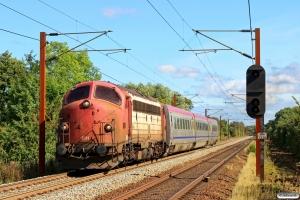 RCDK MY 1134+OT Y2R 1381 som RM 6625 Gl-Rd. Km 165,0 Kh (Odense-Holmstrup) 11.09.2016.